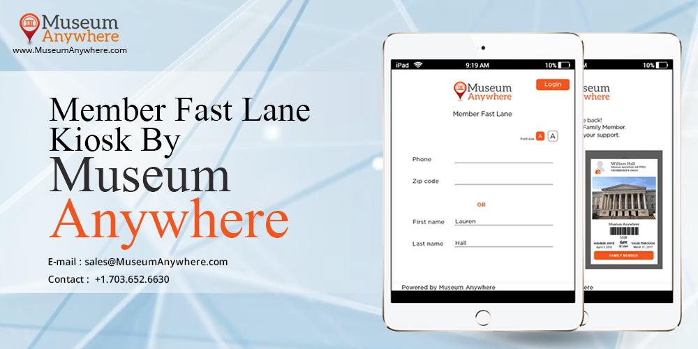 Member Fast Lane Kiosk by Museum Anywhere